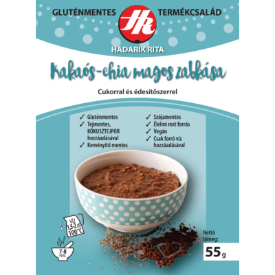 Hadarik Rita g.m. kakaós-chia magos zabkása 55 g.