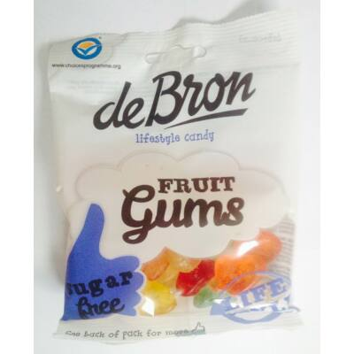DeBron Fruit gums gluténmentes gumicukor