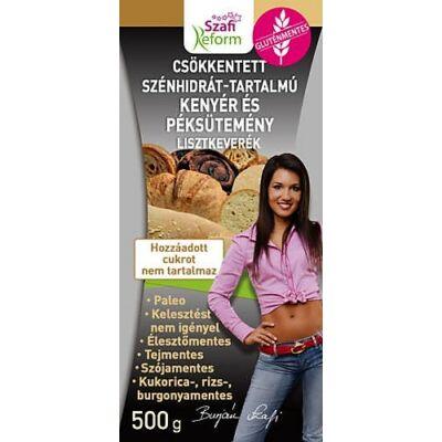 Szafi Reform Csökkentett Szénhidrát tartalmú Paleo kenyér és péksütemény lisztkeverék 500 gr.