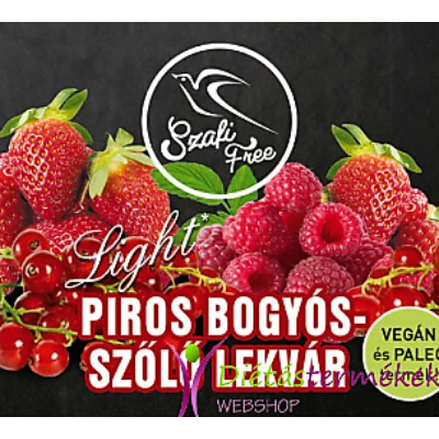 SZAFI FREE PIROS BOGYÓS-SZŐLŐ LEKVÁR 350G