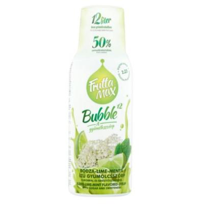 FRUTTAMAX BODZA-LIME-MENTA ízű gyümölcsszörp 500 ml