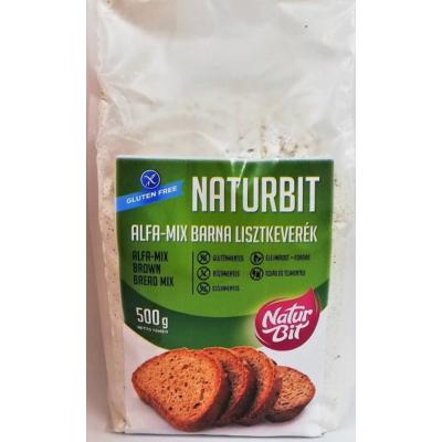NATURBIT ALFA-MIX BARNA gluténmentes lisztkeverék 500g