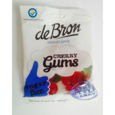 DeBron Cherry gums gluténmentes gumicukor 90 gr.