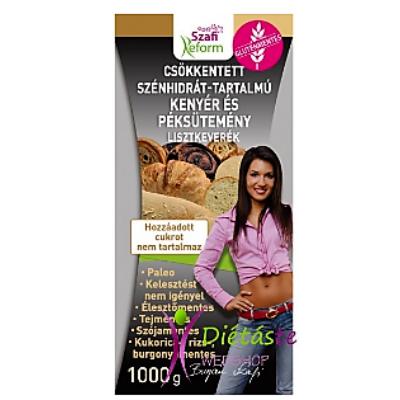 Szafi Reform csökkentett szénhidrát-tartalmú paleo kenyér és péksütemény lisztkeverék 1000g.