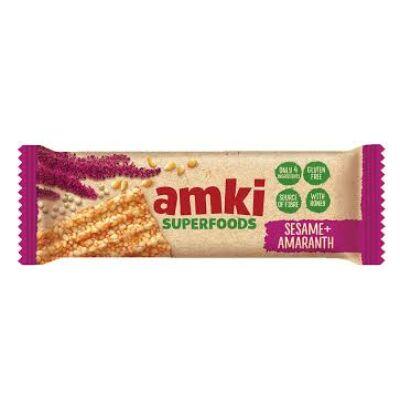AMKI SUPERFOODS mézes szezámszelet amaranttal 33g.