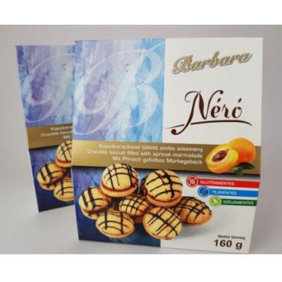 Barbara Néró – kajszibarackízzel töltött omlós sütemény 160g.