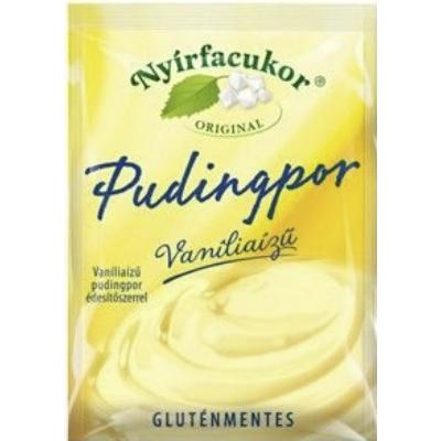 Nyírfacukor Original gluténmentes vaníliaízű pudingpor édesítőszerrel 80 g