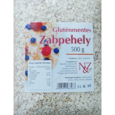 Nature Cookta Gluténmentes Zabpehely 300 gr.