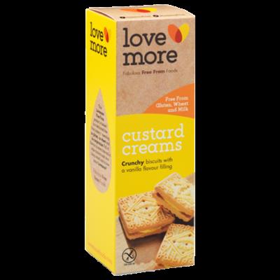 Love More vaníliakrémmel töltött keksz 115g.