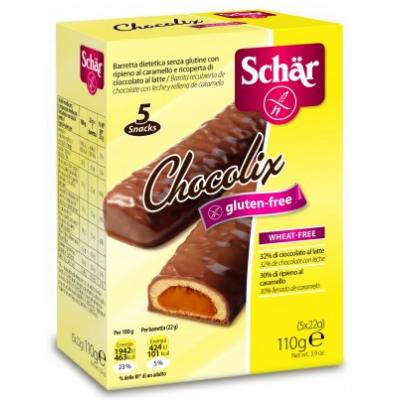 Schar g.m. Chocolix 110gr. /5x22gr/ /karamellás keksz tejcsokoládéba mártva/